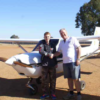 Patrick Mudd after his first solo flight
